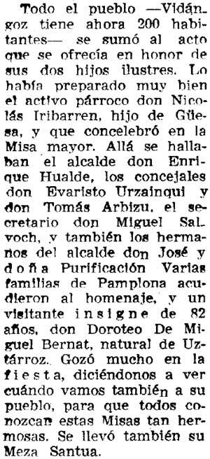 Recorte del Diario de Navarra del 14/06/1975