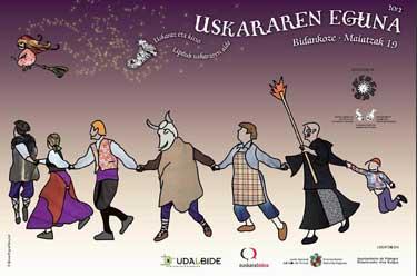 Cartel del Uskararen Eguna 2012 de Vidángoz