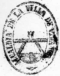 Sello del ayuntamiento de 1882, más similar al actual
