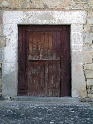 Puerta de casa Pelaire, en su día el nº 1 de la desaparecida calle San Pedro