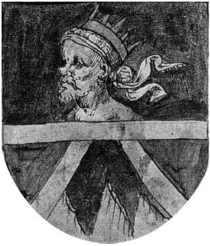 El escudo de armas del valle de Roncal en el libro de armería de Navarra
