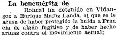 Diario de Navarra de fecha 30/08/1936