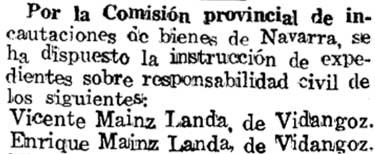 Diario de Navarra del 28/09/1937