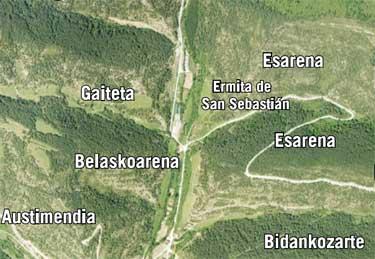 Mapa en el que se refleja la situación de Esarena