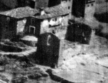Así quedó casa Malkorna tras el incendio de 1933