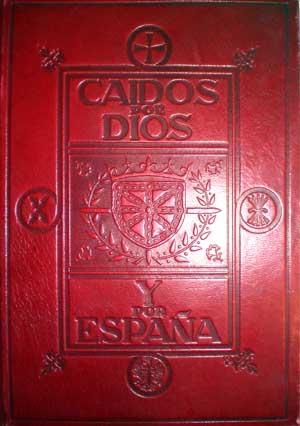 """Portada del libro """"Caidos por dios y por España: Navarra"""", donde se recogen los nombres de los muertos en la guerra civil del bando franquista"""