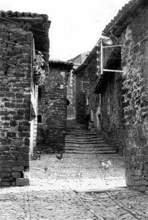 Foto antigua de la Calle Tejería, donde se encuentra casa Txantxolit.