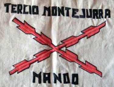 Banderín del Tercio de Montejurra, al que pertenecían los requetés bidangoztarras