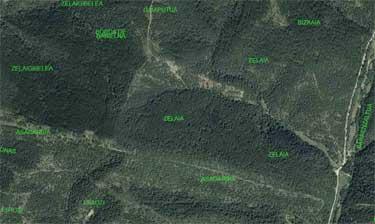 Imagen aérea de Zeleia y los términos cercanos.