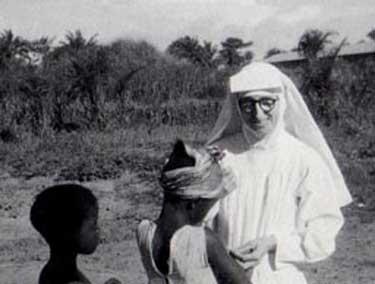 Irene, ayudando a los desfavorecidos en el Congo Belga.