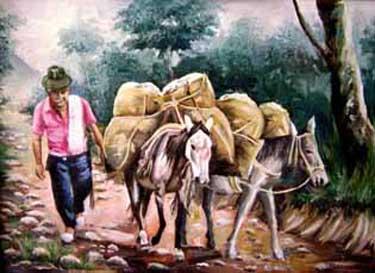 Las mulas, animales de carga por excelencia.