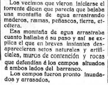 Testimonio sobre lo ocurrido, en El Pensamiento Navarro del 13/06/1915