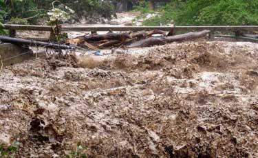 Una tromba de agua arrasó Zeleia