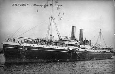 """Barco en el que viajó en 1905 Florencio Rodrigo a Argentina, similar al que habrían usado los demás que """"cruzaron el charco"""""""