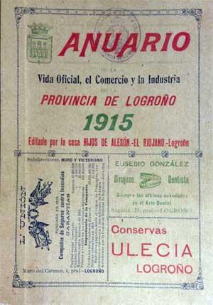 Portada del Anuario de 1915 de La Rioja