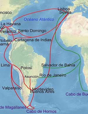 Ruta similar a la que habrían hecho los bidankoztarras que emigraron a Argentina